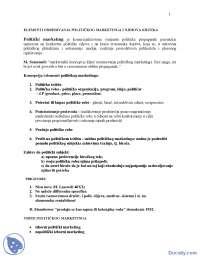 Elementi Politickog marketing-skripta-Politicke nauke