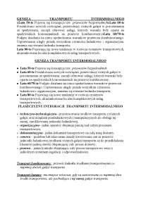 Transport intermodalny - Notatki - Logistyka