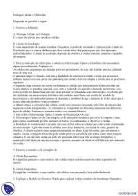 Estudo dirigido - Apostilas - biologia celular e molecular