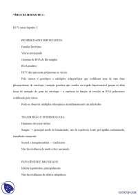 Hepatite C - Apostilas - microbiologia
