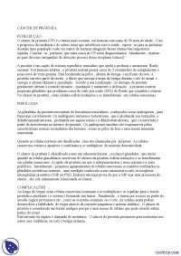 Câncer de próstata - Apostilas - nefrologia