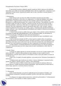 Hemoglobinúria paroxística noturna - Apostilas - hematologia