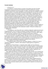 Toxoplasmose - Apostilas - parasitologia