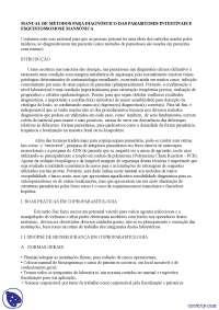 Diagnóstico de parasitoses intestinais - Apostilas - parasitologia