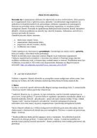Proces starzenia - Notatki - Pedagogika