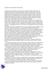 Aplicação da cromatografia na medicina legal - Apostilas - medicina legal