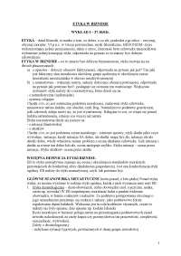 Etyka w biznesie - Notatki - Etyka