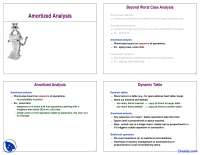Amortized Analysis - Analysis of Algorithm - Lecture Slides