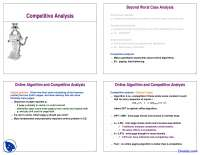 Competitive Analysis - Analysis of Algorithm - Lecture Slides