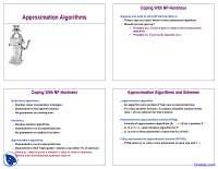 Approximation Algorithms - Analysis of Algorithm - Lecture Slides