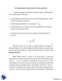 Blade Element Theory - Rotorcraft Aerodynamics - Lecture Notes