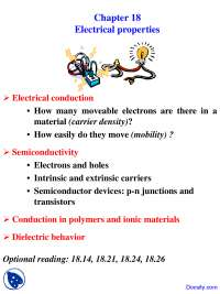 Electrical Properties - Science and Engineering of Materials - Lecture Slides