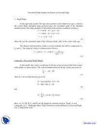 Prescribed Wake Models - Rotorcraft Aerodynamics - Lecture Notes