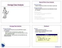 Average Case Analysis - Analysis of Algorithm - Lecture Slides