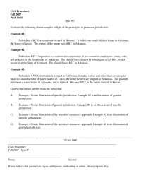 Stream of Commerce Approach - Civil Procedure - Quiz