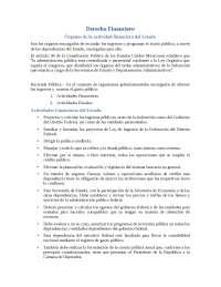 Órganos de la Actividad Financiera del Estado - Apuntes - Derecho Financiero