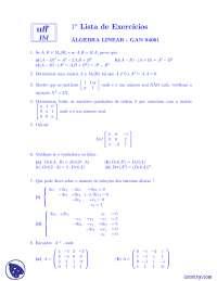 Lista 1 - Exercícios - Álgebra  Linear Aplicada