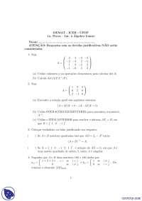1ª Prova - Prova -  Álgebra Linear para Estatística