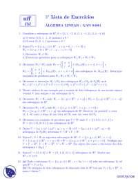 Lista 3 - Exercícios - Álgebra  Linear Aplicada