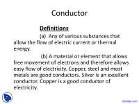 Conductor - Physical Engineering - Lecture Slides