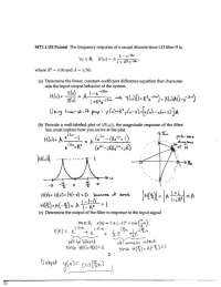 Constant Coefficient - Signals and Systems - Solved Exam