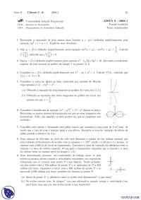Lista 9 - Exercícios - Cálculo 1A