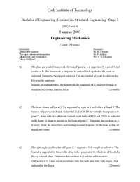 Application of Integration - Engineering Mechanics - Past Paper