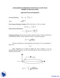 Important Facts and Equations - High Speed Aerodynamics - Lecture Notes