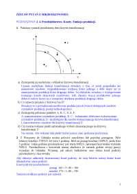 Zadania z mikroekonomii, rozwiązania - Notatki - Mikroekonomia - Część 6