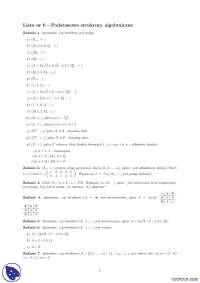 Struktury algebraiczne - Notatki - Algebra