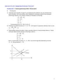 Zadania z mikroekonomii, rozwiązania - Notatki - Mikroekonomia - Część 8