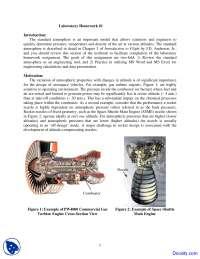 Introduction to Flight - Aerospace Practicum - Home Work