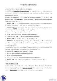 Twierdzenia - Notatki - Algebra - Część 1