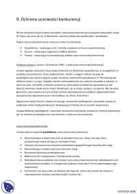 Uczciwość konkurencji - Notatki - Prawo gospodarcze