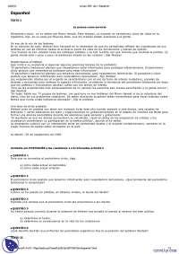 Vestibular de Espanhol - 1997 - UFRJ