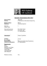Electro-Hydraulic - Automated Systems - Old Exam Paper