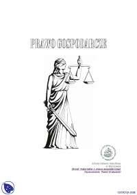 Prawo gospodarcze - Notatki - Prawo gospodarcze - Część 1