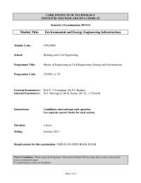 Bedding Requirements - Environmental Engineering - Old Exam Paper