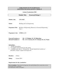 Design Steel Beam - Introduction to Structural Design - Old Exam Paper