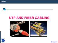 Cabling - Network Administration - Lecture Slides