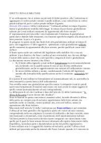Diritto penale militare - Appunti - Diritto militare II