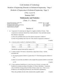 Corresponding Eigenvectors - Mathematics and Statistics - Exam