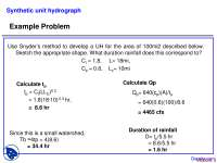 Area - Advanced Hydrology - Problems