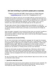 Modelo de Briefing ABA - Apostilas - Design Gráfico