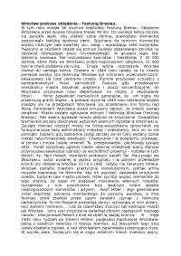 Wrocław podczas oblężenia - Notatki - Historia