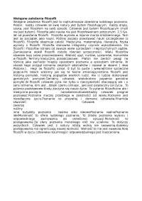 Wstępne założenia filozofii - Notatki - Filozofia