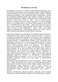 Monofizytyzm i kościoły - Notatki - Teologia