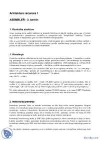 ASEMBLER-Skripta-Arhitektura racunara 1-Informatika (2)
