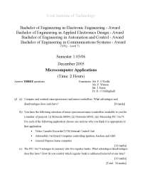 Analog to Digital Converter - Microcomputer Applications - Exam