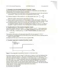 Environmental Transport - Environmental Engineering - Exam